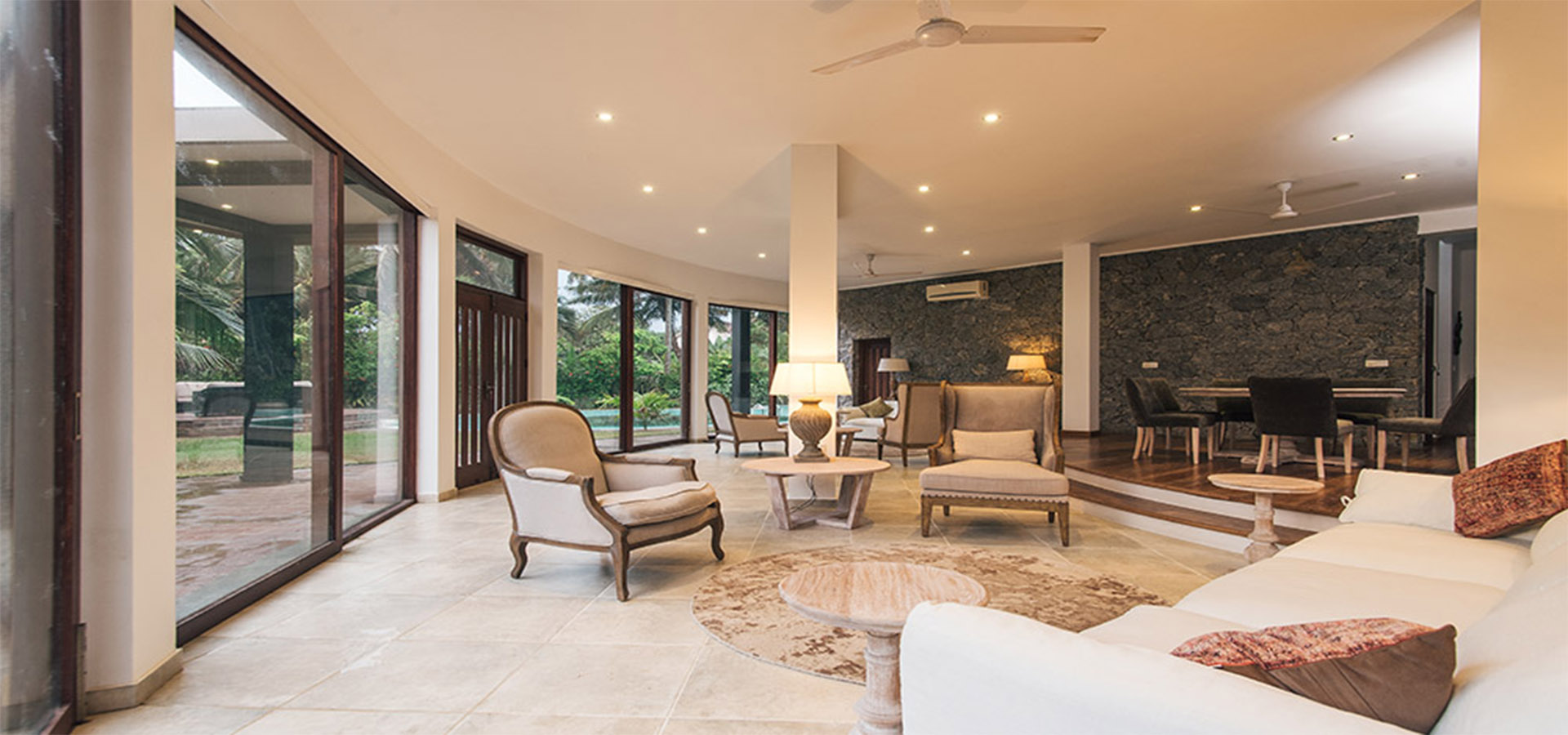 Serendipity_Hotels_living area with outdoor view at villa thuya